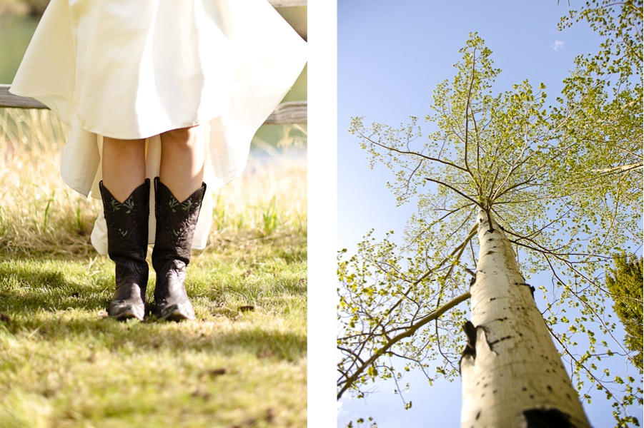 Wedding Dress Cowboy Boots Becky Young Colorado