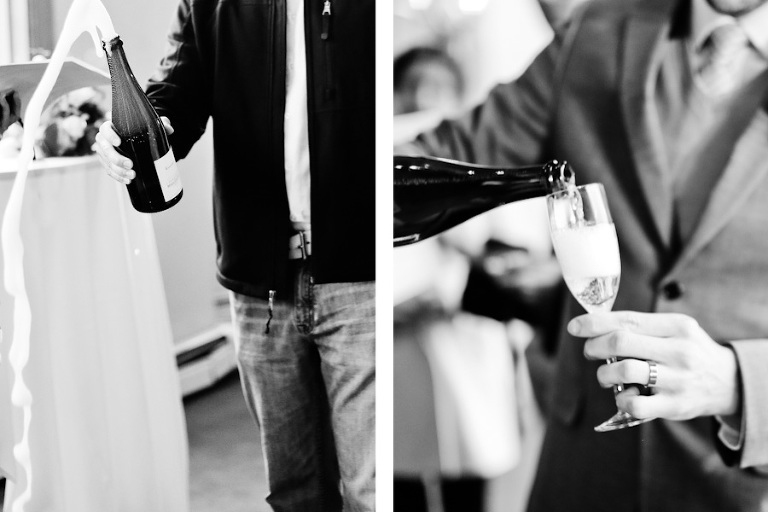 champagne toast after elopement