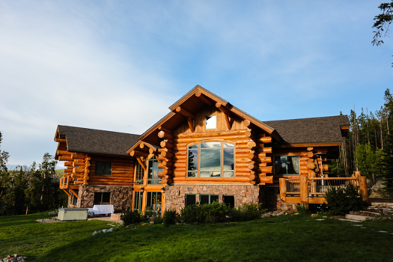 A private log home in Breckenridge is a great location for a private elopement