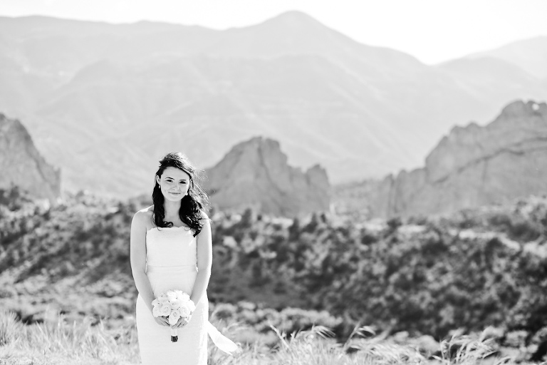 Bride eloping to Colorado Springs