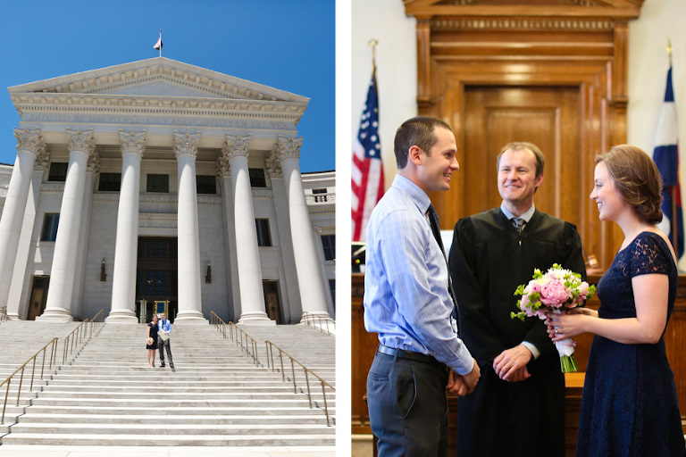 Denver courthouse elopement