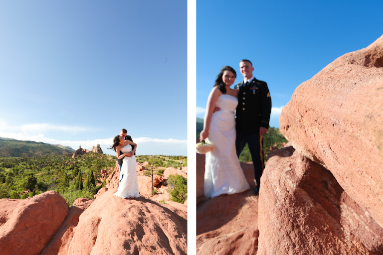 Couple eloping in Garden of the Gods