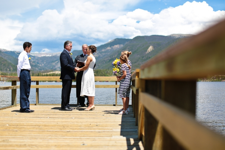 Grand Lake Colorado elopement ceremony