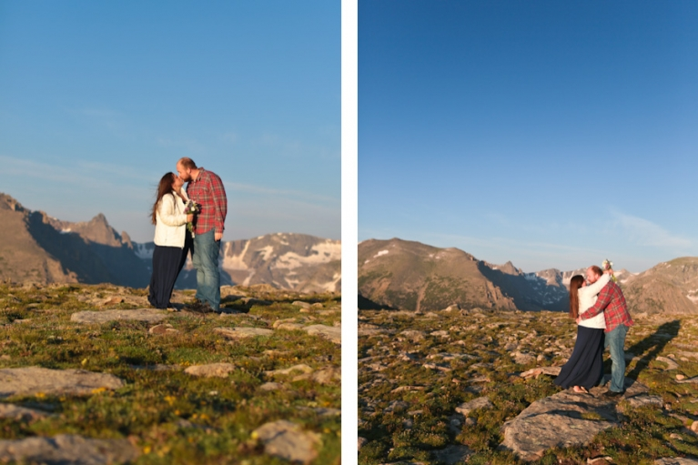 Trail Ridge Road wedding ceremony