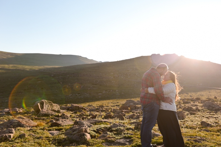 Mountain top elopement at sunrise