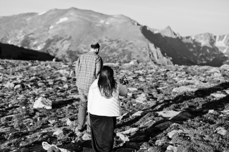 Eloping on top of Trail Ridge Road