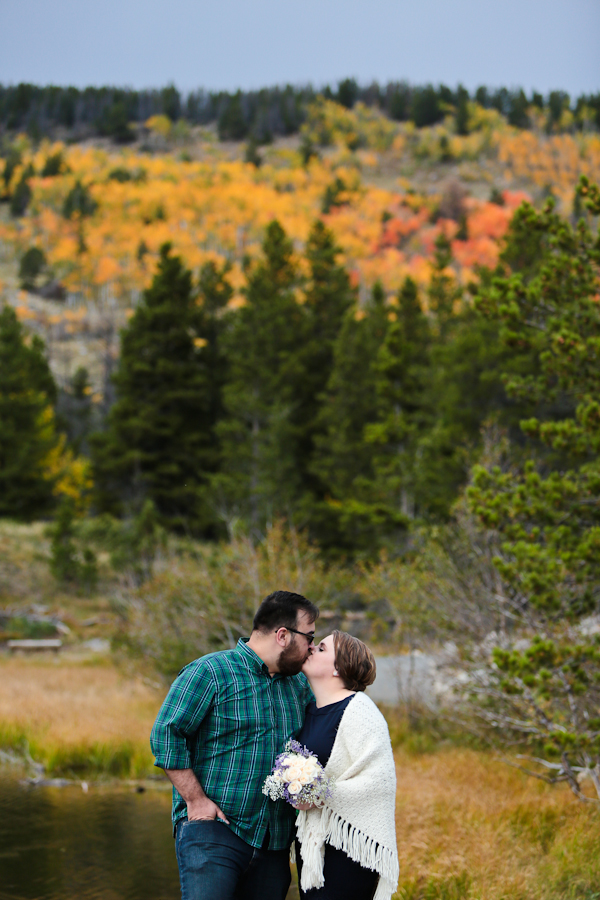 fall elope in colorado mountains