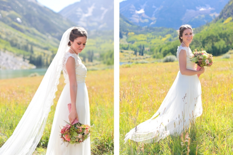bride eloping in aspen colorado