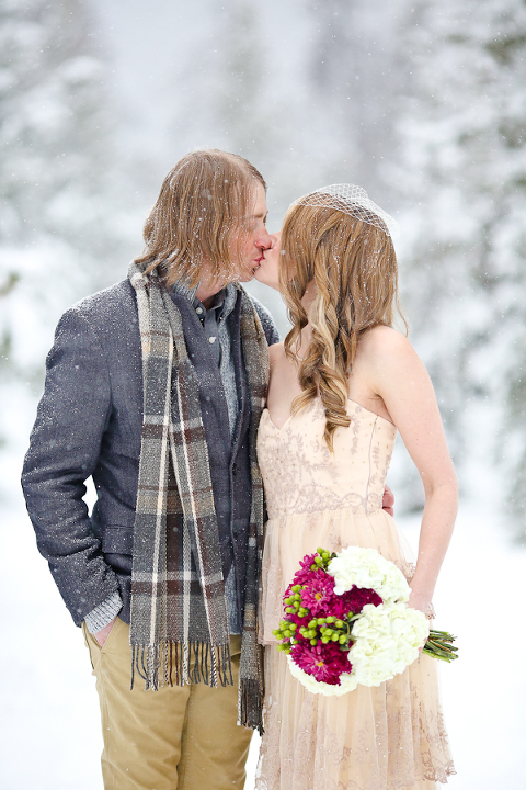 snowy elopement session in summit county