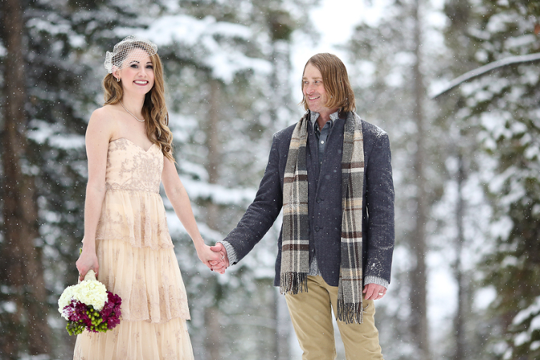 snowy colorado elopement location by becky young photography