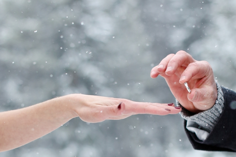 Eloping in the snow