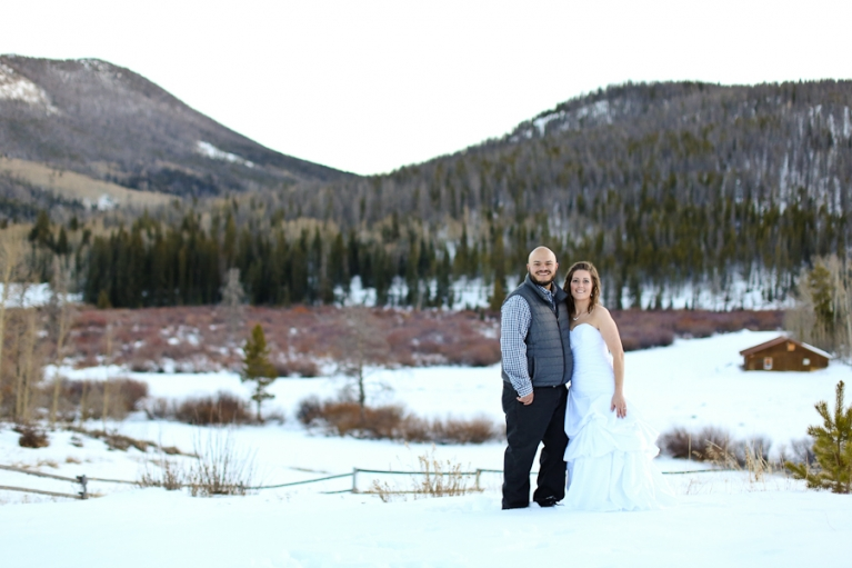 Snow Mountain Ranch elopement in the winter