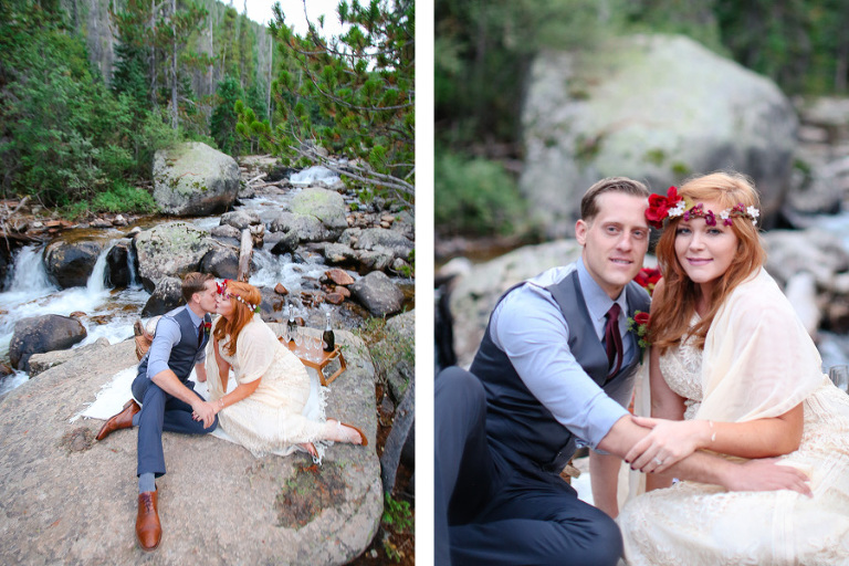 Rocky Mountain National park elopement at copeland falls photo by becky young photography
