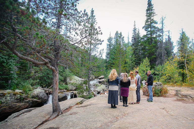 intimate wedding inside rocky mountain national park