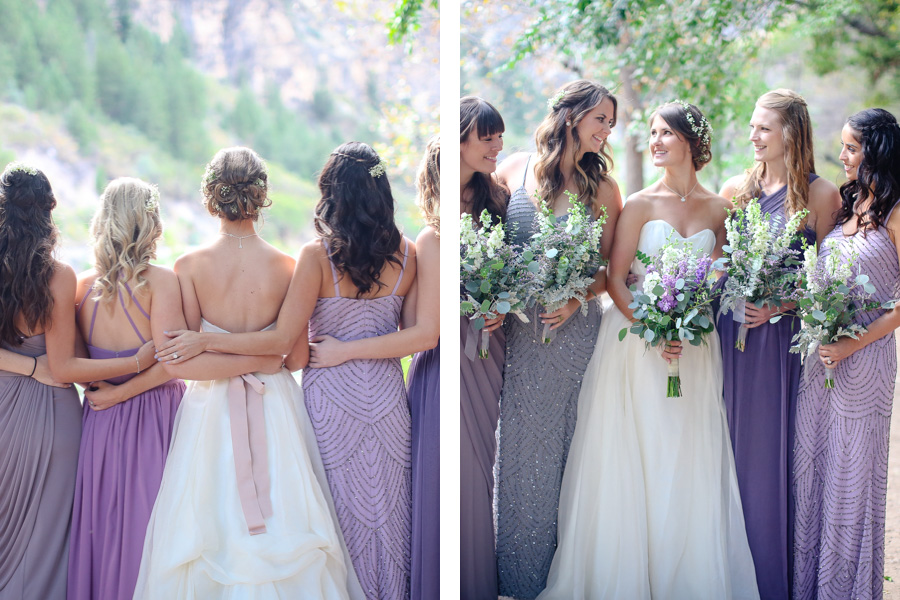 Diffe Shades Of Purple For Bridesmaid