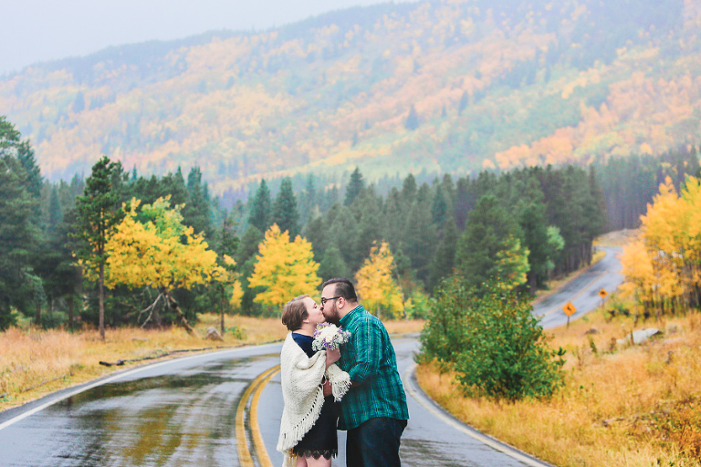 September elopement inside Rocky Mountain National park photo by Becky Young Photography
