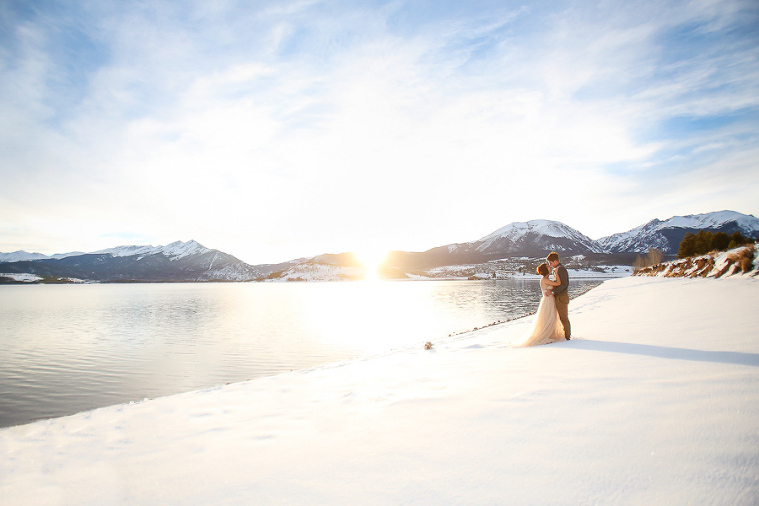 This snowy winter elopement took place in the rocky mountains of Colorado