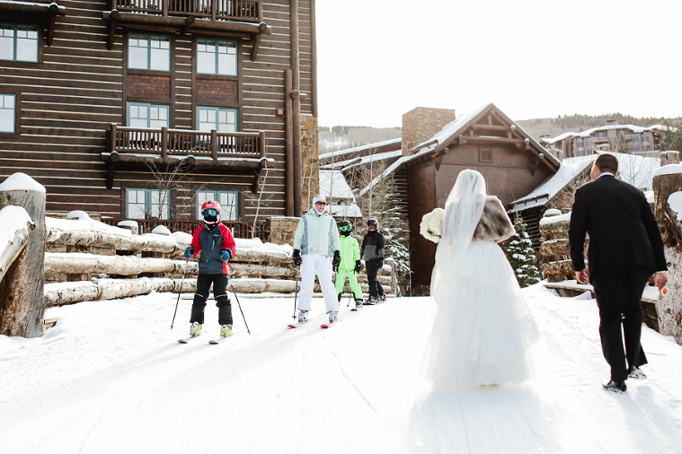 skiing elopement in Beaver Creek Colorado