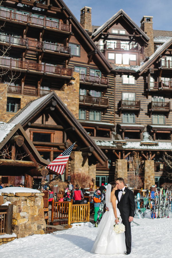 Ritz-Carlton Beaver Creek as a backdrop for a small wedding