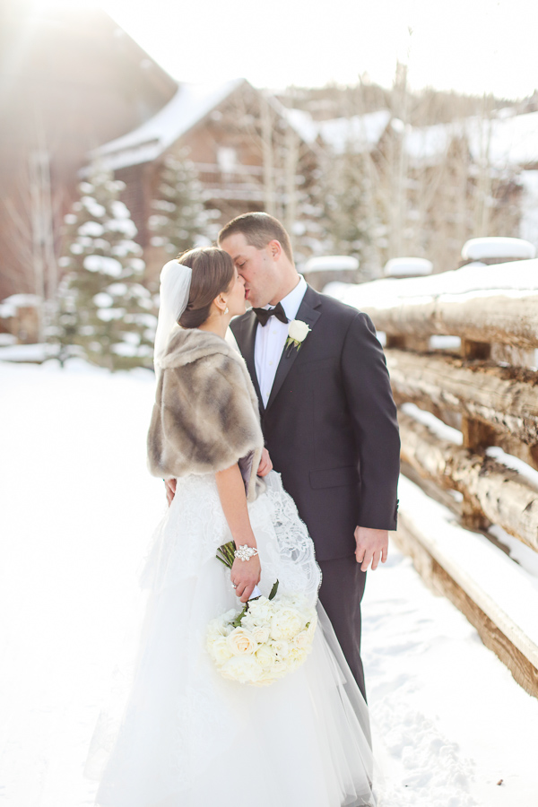 beaver creek elopement photo in the snow