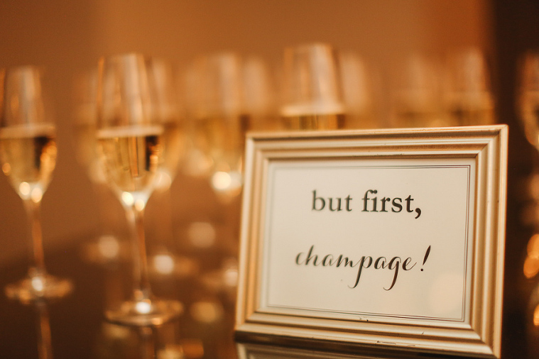 but first champagne sign for wedding