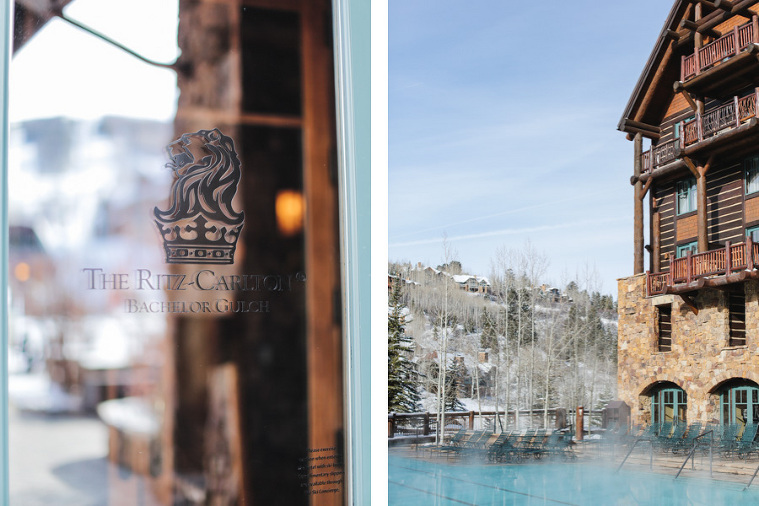 Ritz-Carlton Bachelor Gulch pool and outdoor wedding area in the winter