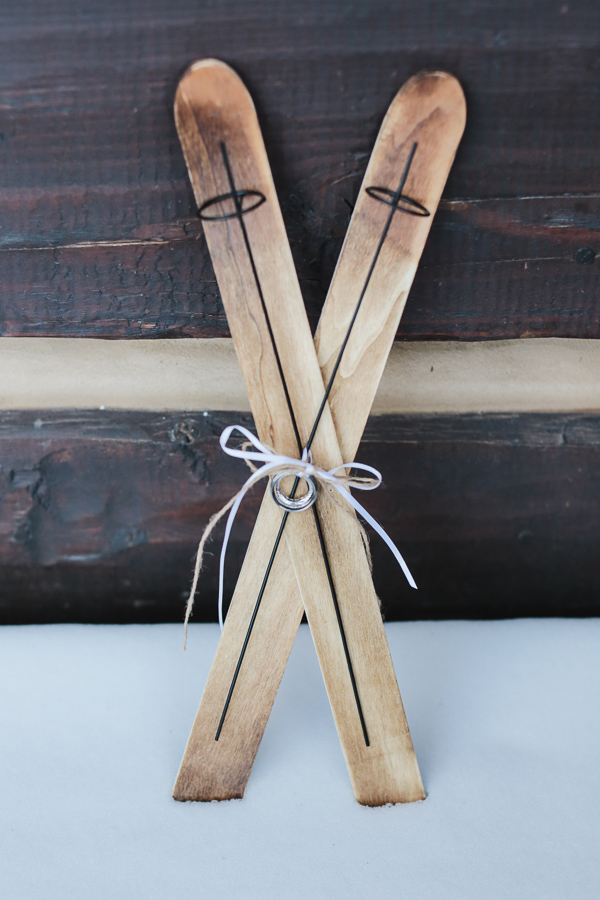 wooden skis for ringbearer