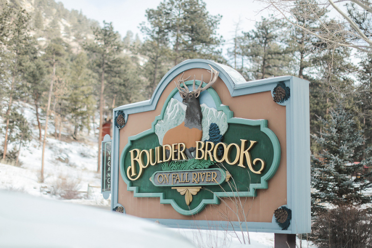 Boulder Brook on Fall River in Estes Park wedding location