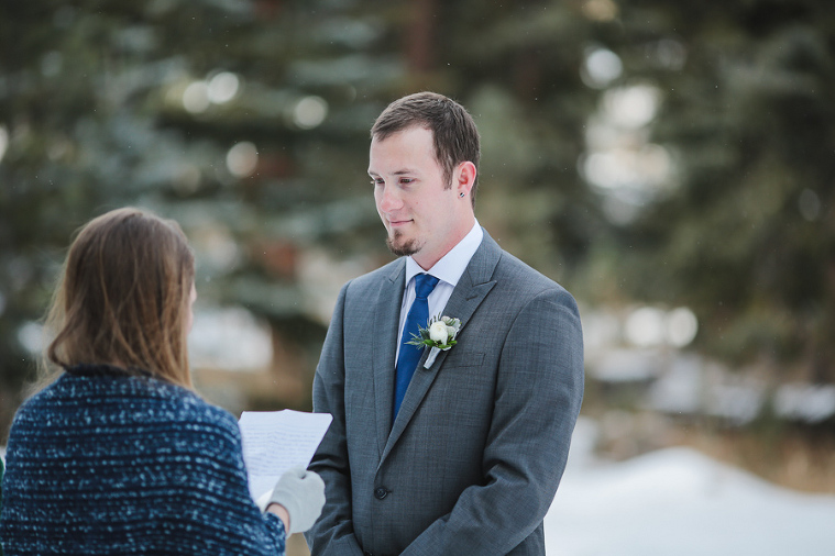 Estes Park elopement ceremony on Fall River