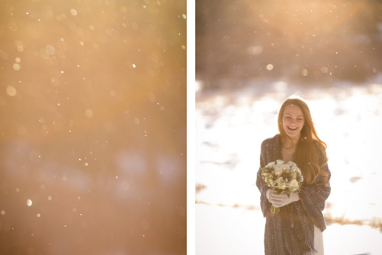 Eloping in the snow in Colorado