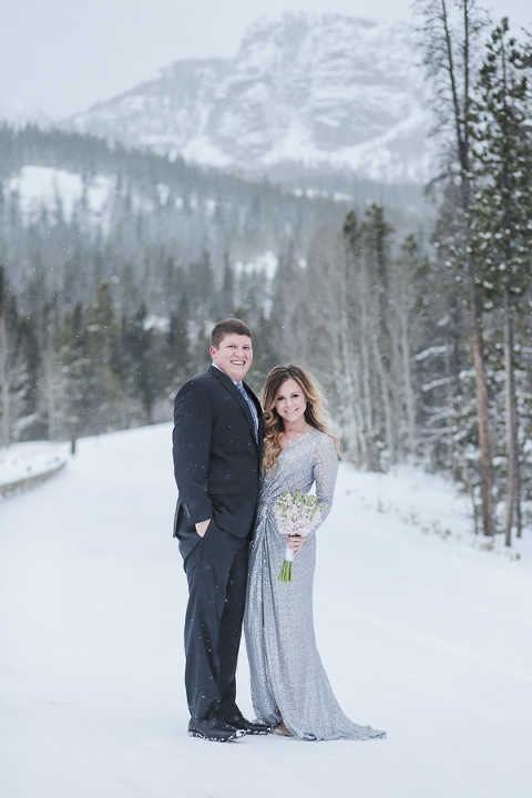 incredible snowy winter elopement location in the mountains of Colorado