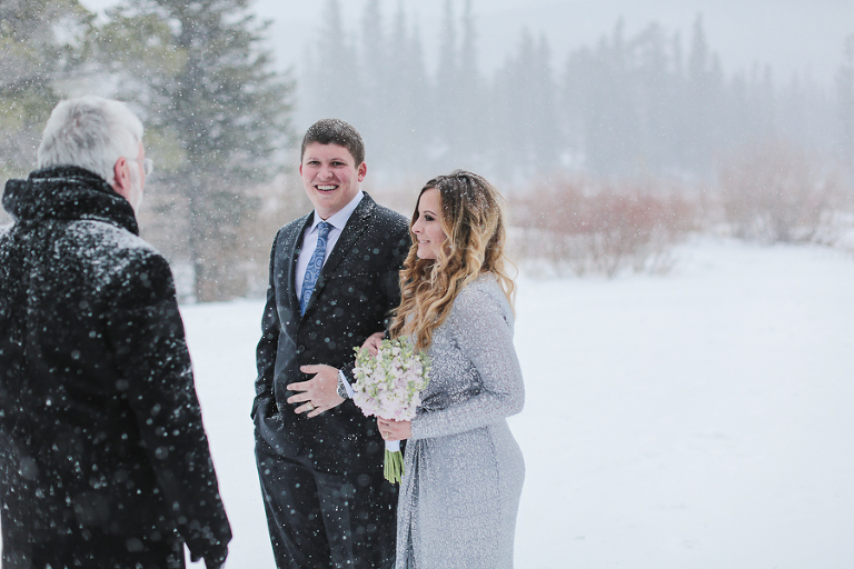 eloping in a crazy blizzard inside rocky mountain national park