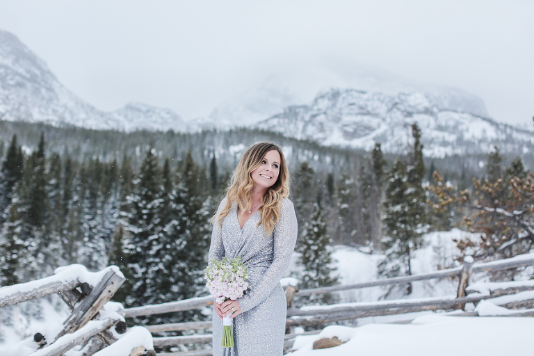 Amazing winter elopement in rocky mountain national park in colorado