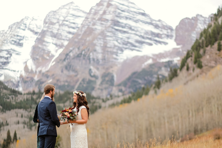 An early october elopement at the maroon bells in aspen colorado