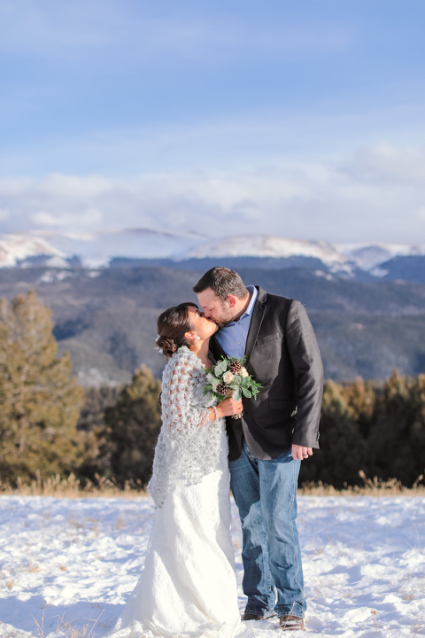 winter elopement in colorado in the snowy month of december