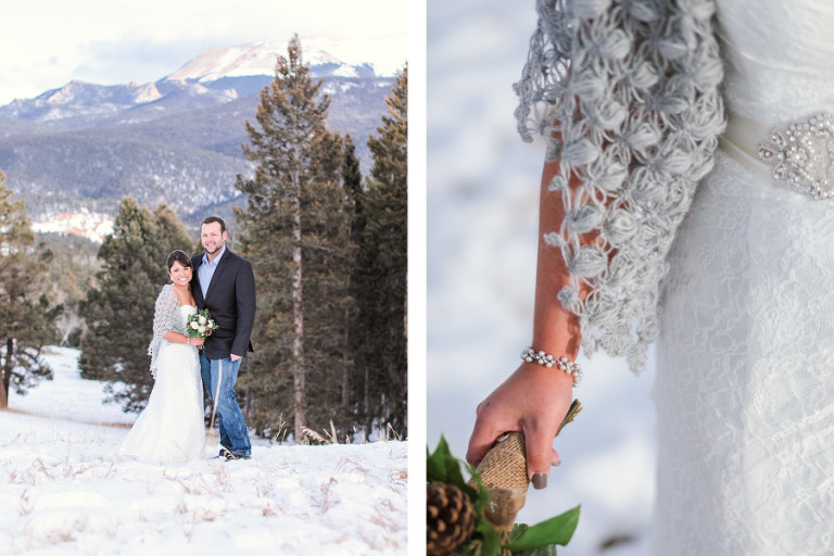 grey white winter wedding shawl