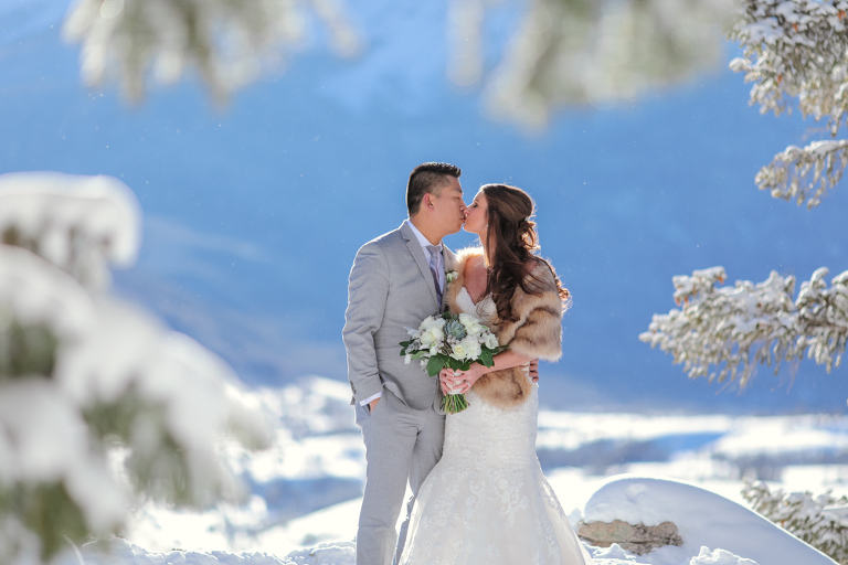 Incredible winter mountain elopement in Colorado