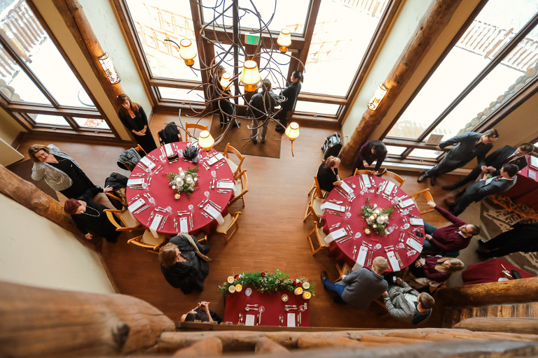 atrium at the lodge at breckenridge is a great place for a small family wedding