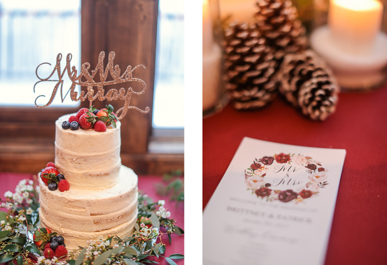intimate wedding reception in breckenridge for a small wedding