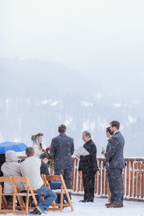 the lodge at breckenridge is a great winter wedding location