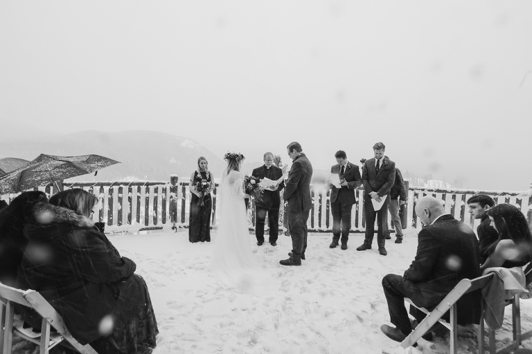 An intimate wedding in the winter at the lodge at breckenridge