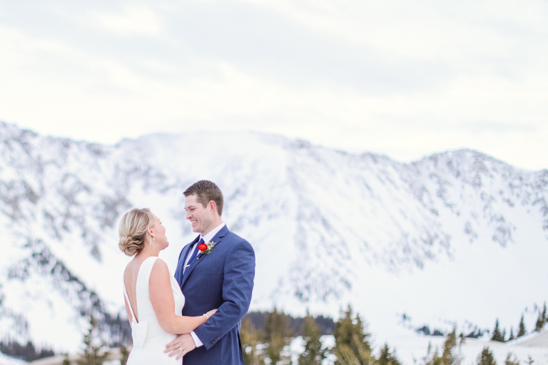Eloping on Loveland Pass in the winter in Colorado