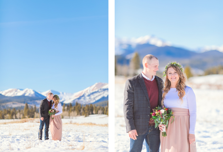 Katie and Jason elope on top of kenosha pass which is about an hour from Denver