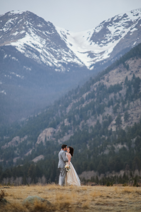 Eloping near Horseshoe Park in Rocky Mountain National Park