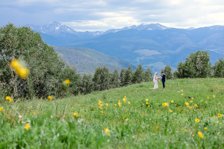 Couples elopes during a self-solemnized ceremony in Vail Colorado
