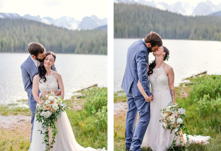 A couple elopes in the Indian Peaks wilderness of Colorado