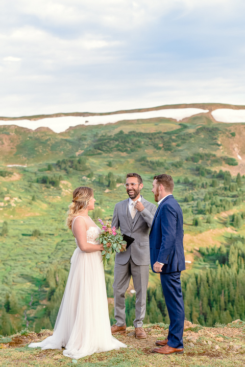 Loveland Pass elopement ceremony in Colorado