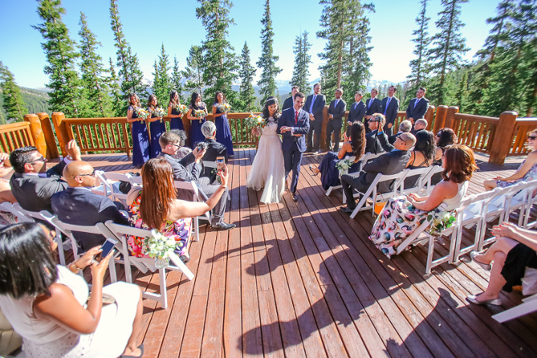 Views From Timber Ridge Wedding Deck In Keystone Colorado